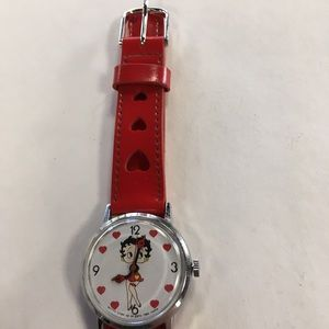 Accessories - Betty Boop 1985 Red Hearts Watch MO390